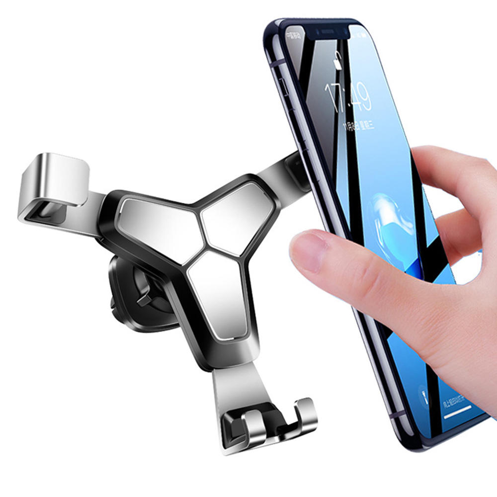 Bakeey Metal Gravity Linkage Automatic Lock Air Vent Car Phone Holder For 4.0-7.0 Inch Smart Phones