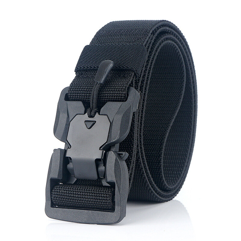 125cm AWMN ES19 Punch Free Magnetic + Elastic Buckle Tactical Belt Quick Release Nylon 2019 new style