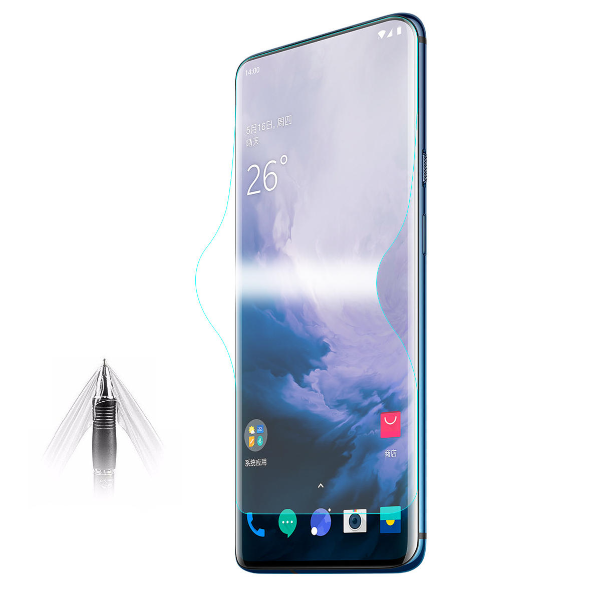 Enkay Hydrogel TPU 3D Full Curved Edge Self-healing Screen Cover Screen Protector For OnePlus 7 Pro