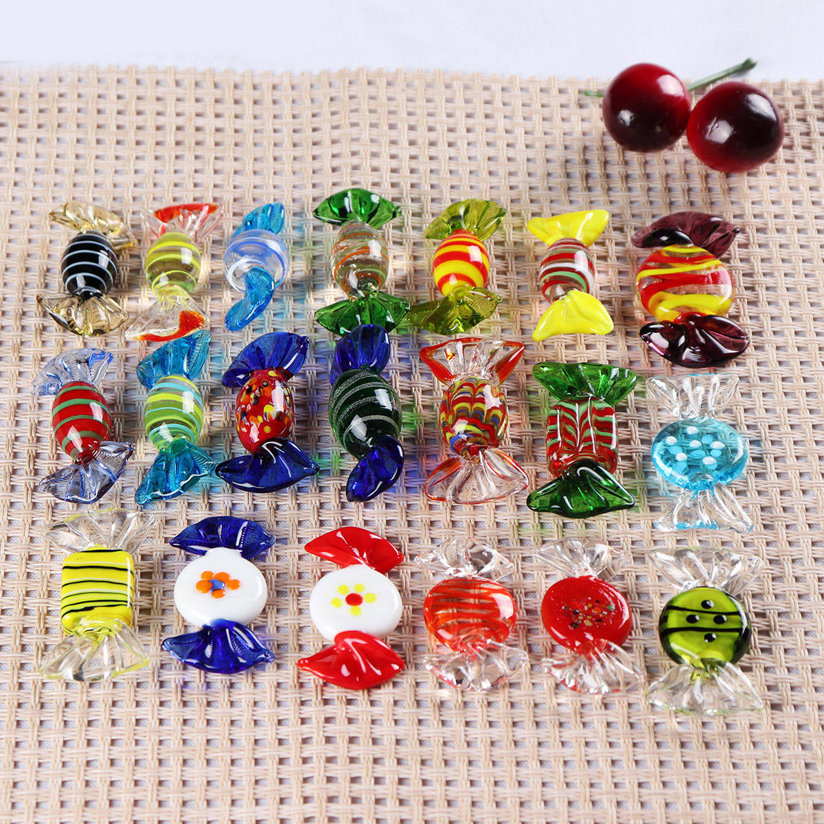 20Pcs/Set Vintage Glass Sweets Wedding Party Candy Christmas Decorations Gift COD