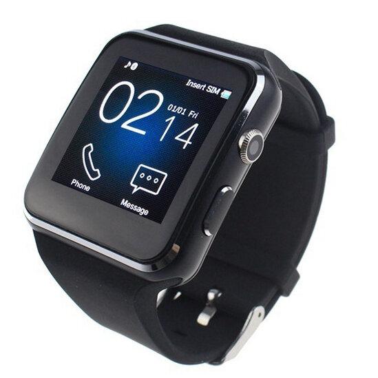 Bakeey X6 Curvado HD Cámara Tarjeta SIM Llamar Monitor de Sueño Aplicaciones incorporadas Reloj inteligente para iOS Android