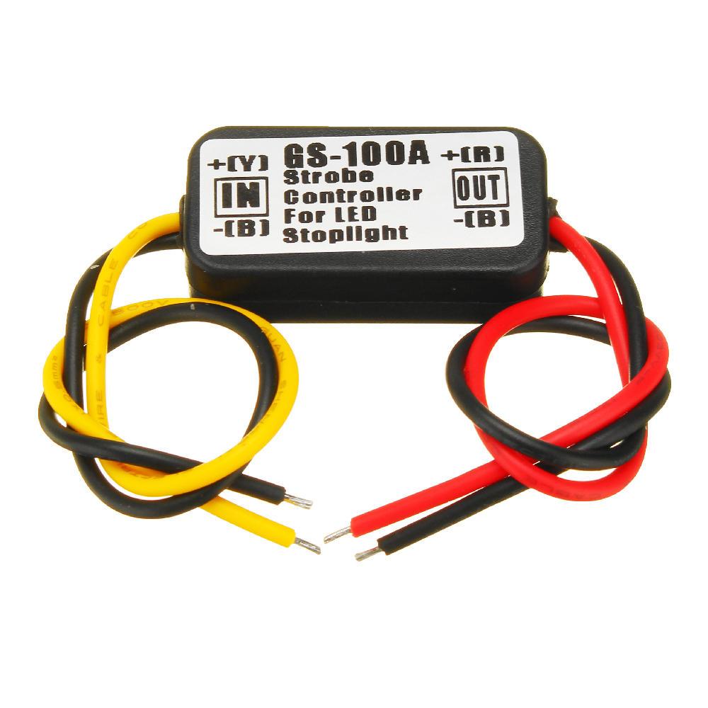 12V Waterproof Flash Strobe Controller Flasher Module For Car LED Brake Stop Lights Lamp