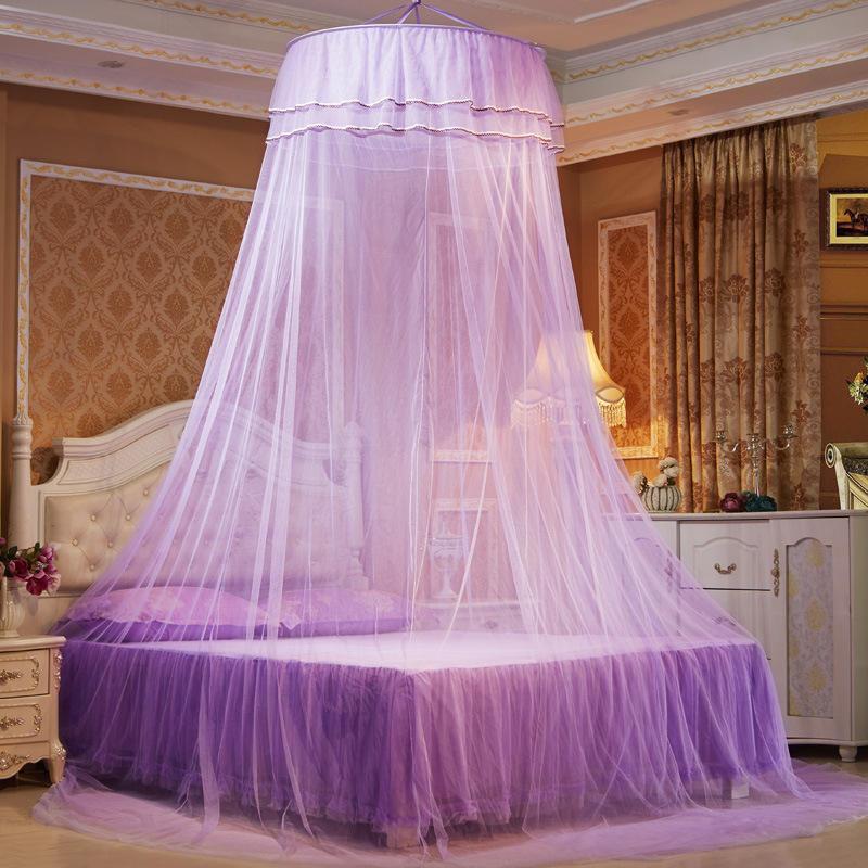 Flot elegant loftrunde mosquito net romantisk butterfly prinsesse MJ-95