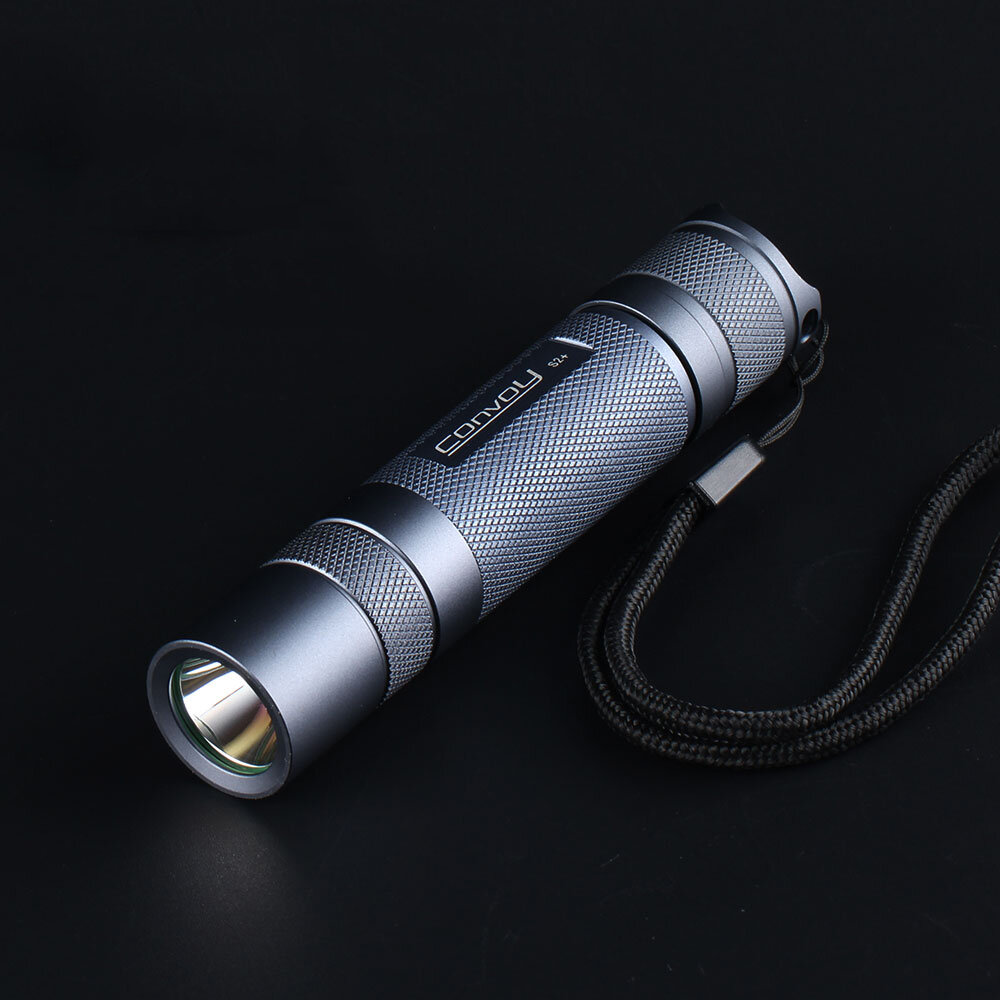 Gray Convoy S2+ SST20 7135*8 7135*6 18650 LED Flashlight