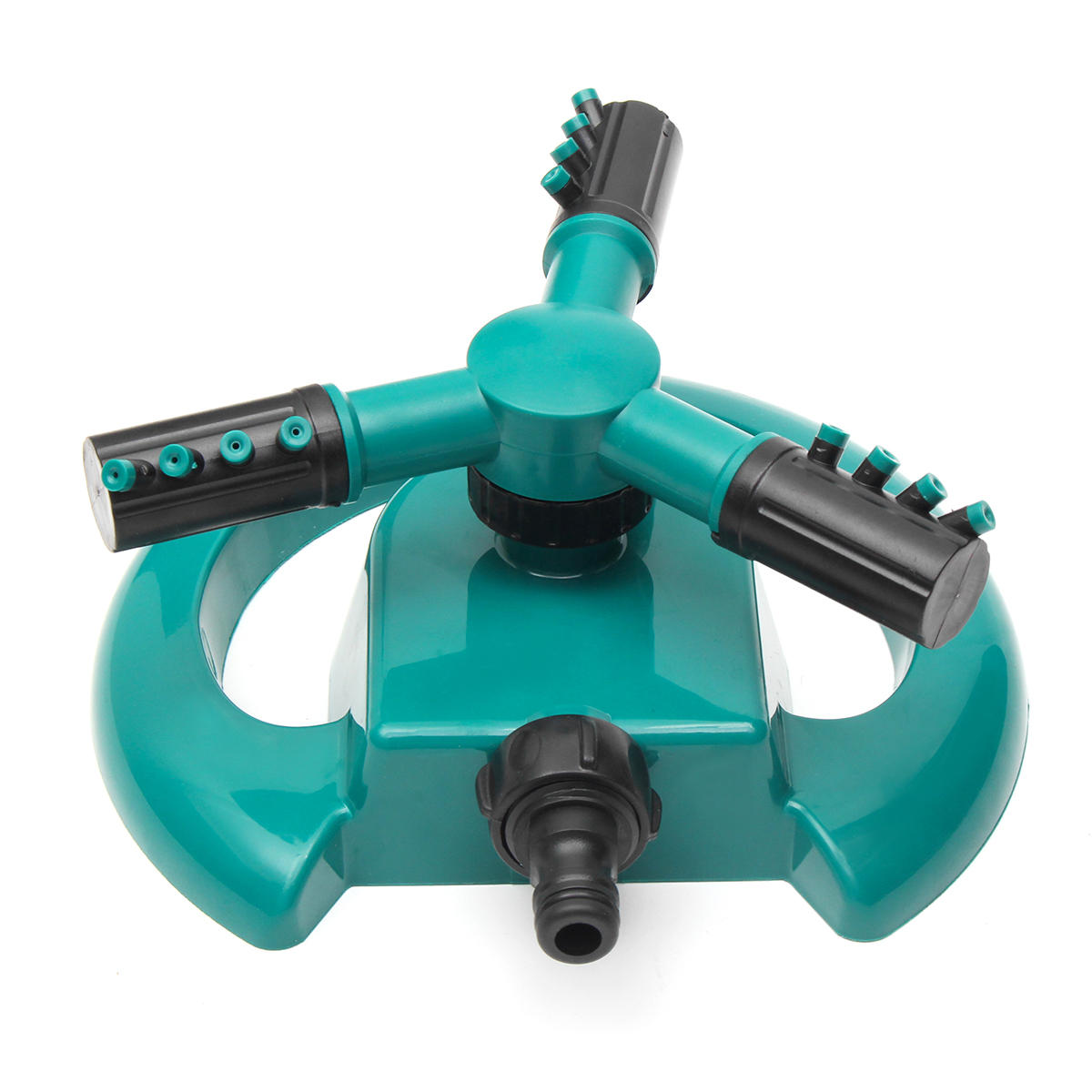 360 Degree Automatic Rotating Watering Revolving Sprinkler 3 Nozzle Irrigation System Lawn Watering фото