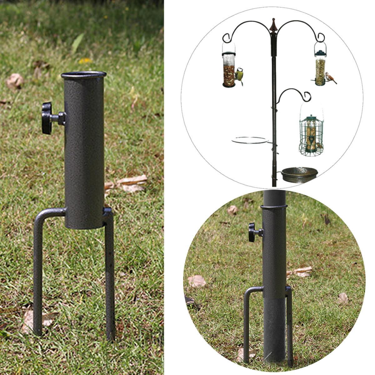 Bird Feeder Pole Hangers Feeding Station Stabilizer Feet SpikesStand Feed Tube Garden Lawn