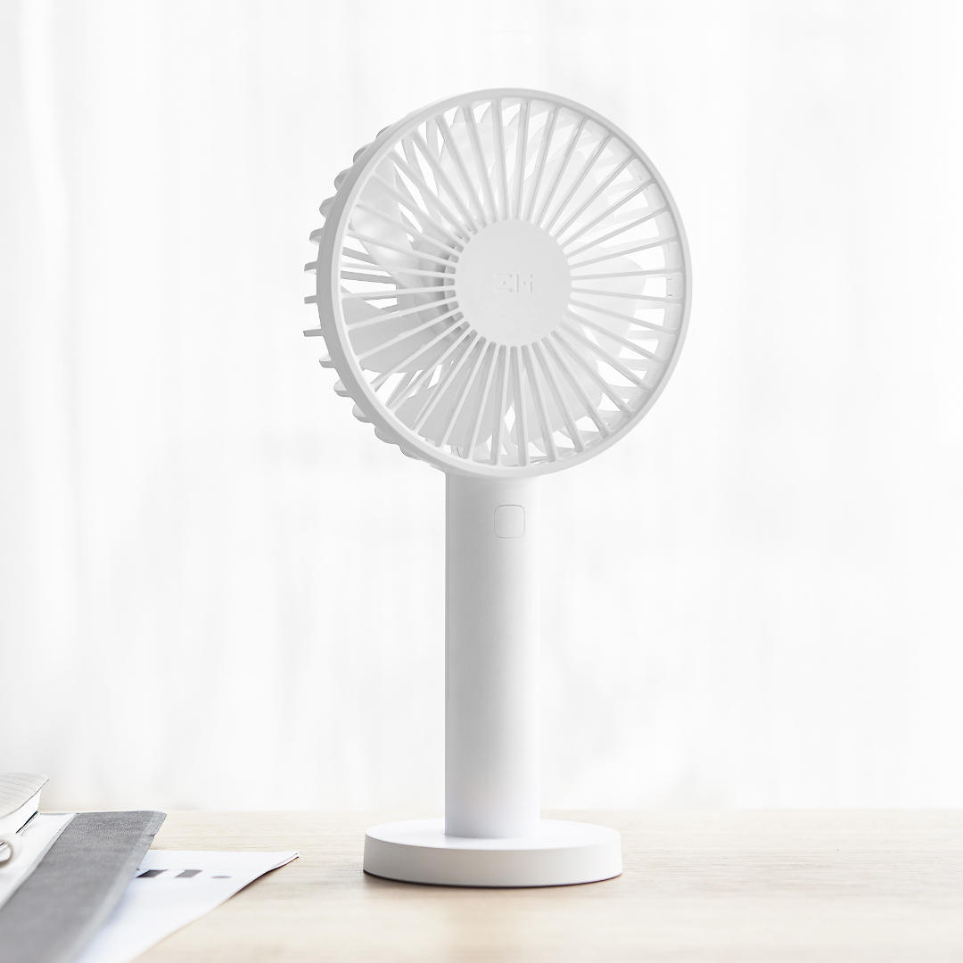 Zmi 3 Speeds Cooling Fan from Xiaomi Eco-System Portable Handheld With Rechargeable Built-in Battery 2600mAm/3350mAh USB Port Handy Mini Fan For Smart Home