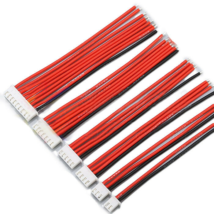 2.54XH 22AWG 13CM 1S 2S 3S 4S 6S 8S बैलेंस केबल सिलिकॉन तार लाइपो बैटरी के लिए
