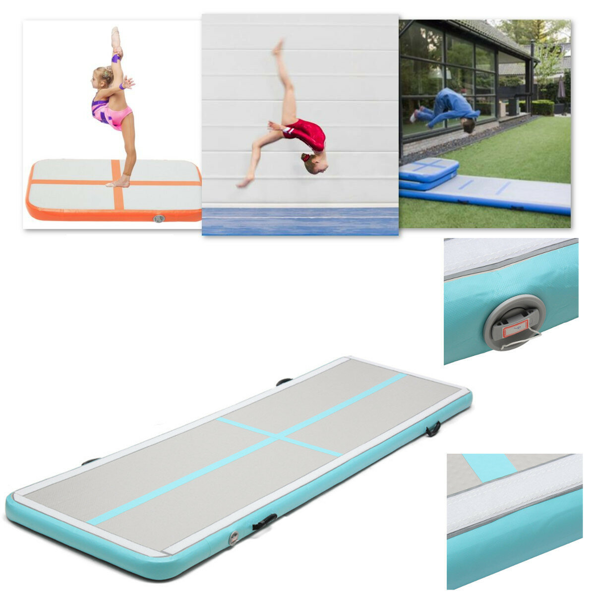 121be70ddd0e 118x39x4inch Airtrack Gymnastics Mat Floor Home Inflatable GYM Air Track  Mat Tumbling Mat GYM NEW COD