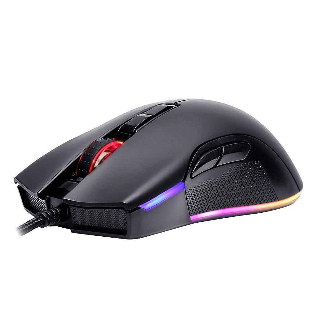 Motospeed V70 PMW3325 12000 DPI 7 Buttons RGB LED Backlight Optical Wired Gaming Mouse For Laptops Desktops