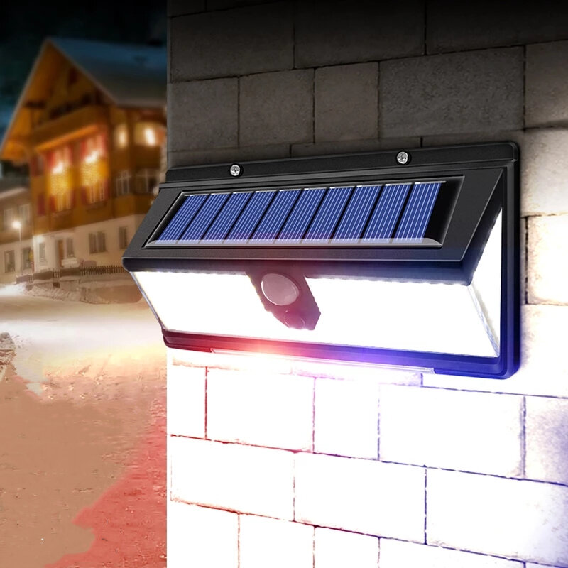 ARILUX 190 LED Solar Lights Outdoor Solar Lamp With PIR Motion Sensor Solar Powered Waterproof Warning light for Courtya