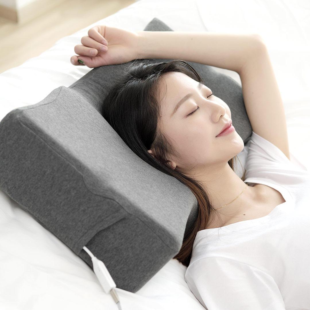 PMA Graphene Smart Pillow Sleep Aid App Sleep Tracking Infrared Heating with Bone Conduction for Neck Head Health Care