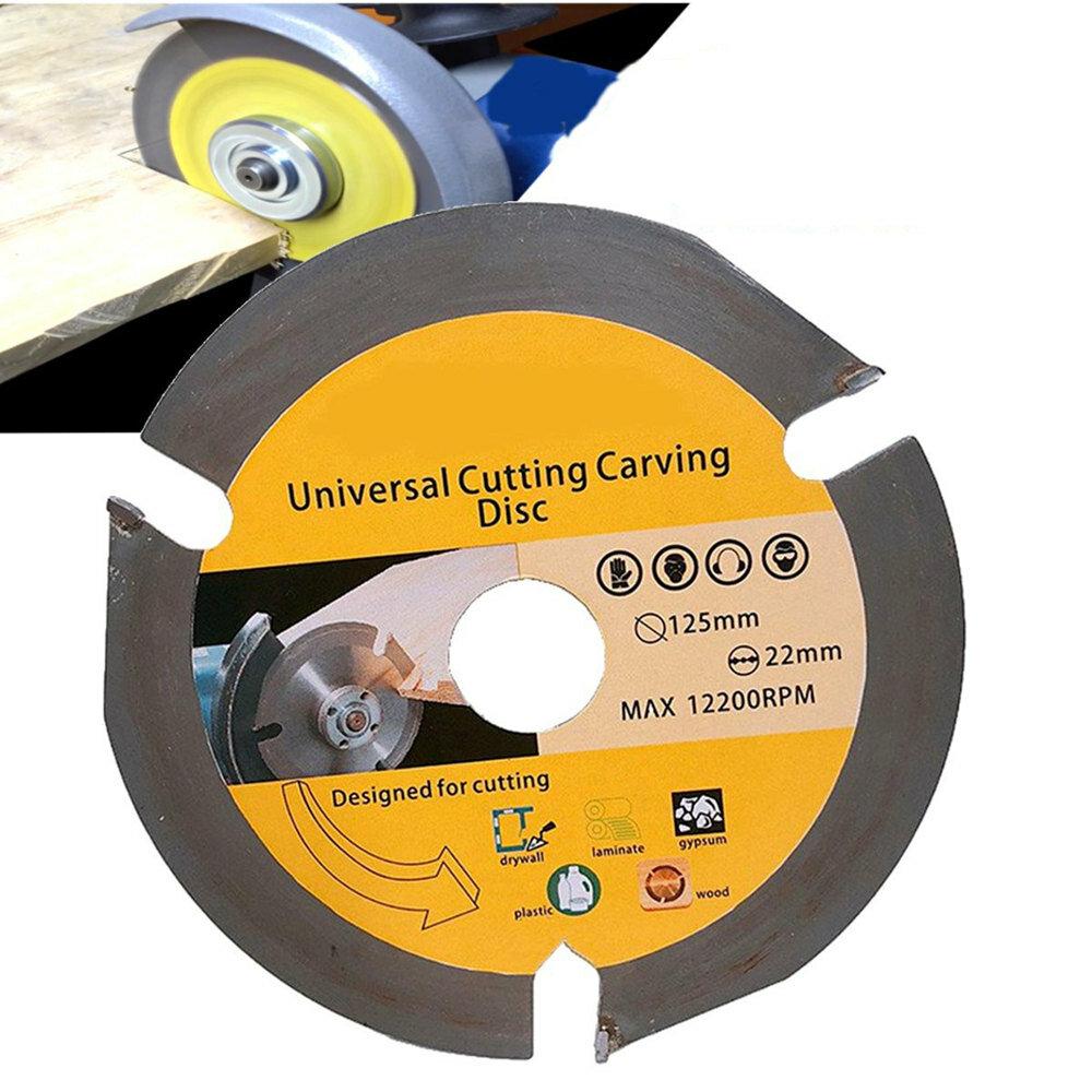 Drillpro 125mm 3T Cirkelsågblad Multitool Kvarnsågskiva Karbid Tipped Wood Cutting Disc
