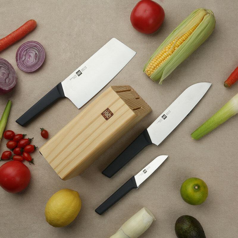 Noże + stojak xiaomi HuoHou z EU za $29.99 / ~115zł