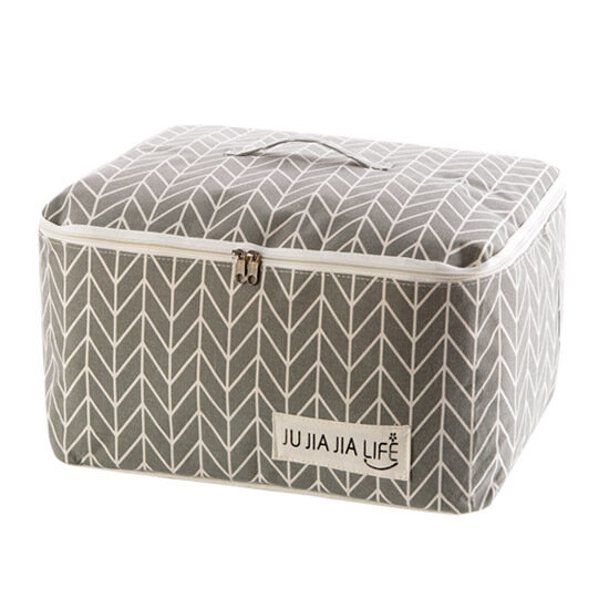 Cotton Linen Quilts Storage Bag Clothes Organizer Bag Folding Camping Travel Luggage Bag