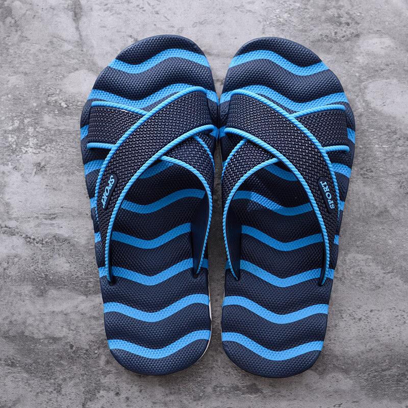 Men Casual Opened Toe Soft Massage Beach Slippers, Banggood  - buy with discount