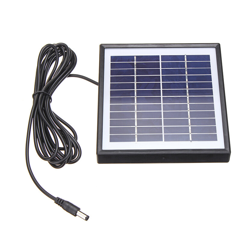 Portable 5W 12V Polysilicon Solar Panel Battery Charger For Car RV Boat W/ 3m Cable