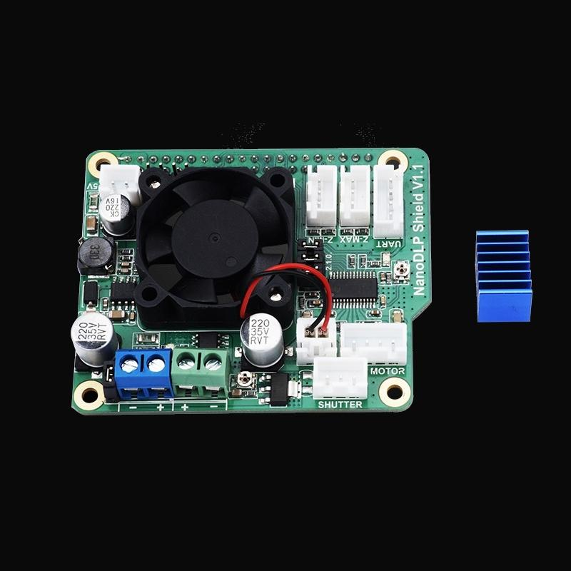 NanoDLP Shield V1 1 Expansion Board With DRV8825 Controled MOS For  Raspberry Pi 3B And NanoDLP's Light-cured 3D Printers