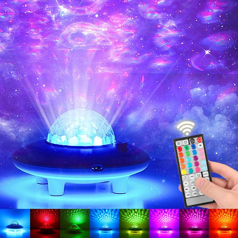 USB Проектор Ночник Bluetooth Аудио LED Звездный Sky Проекция Лампа Дистанционное Управление