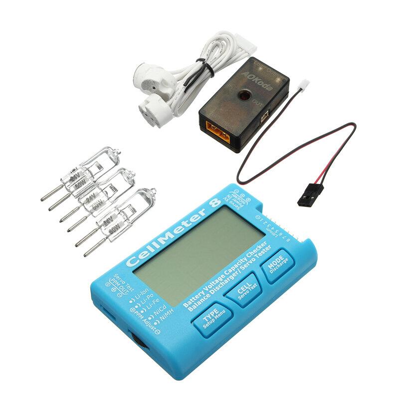 AOKoda CellMeter 8 Battery Checker с Батарея Баланс напряжения Сервопривод Тестер-тестер