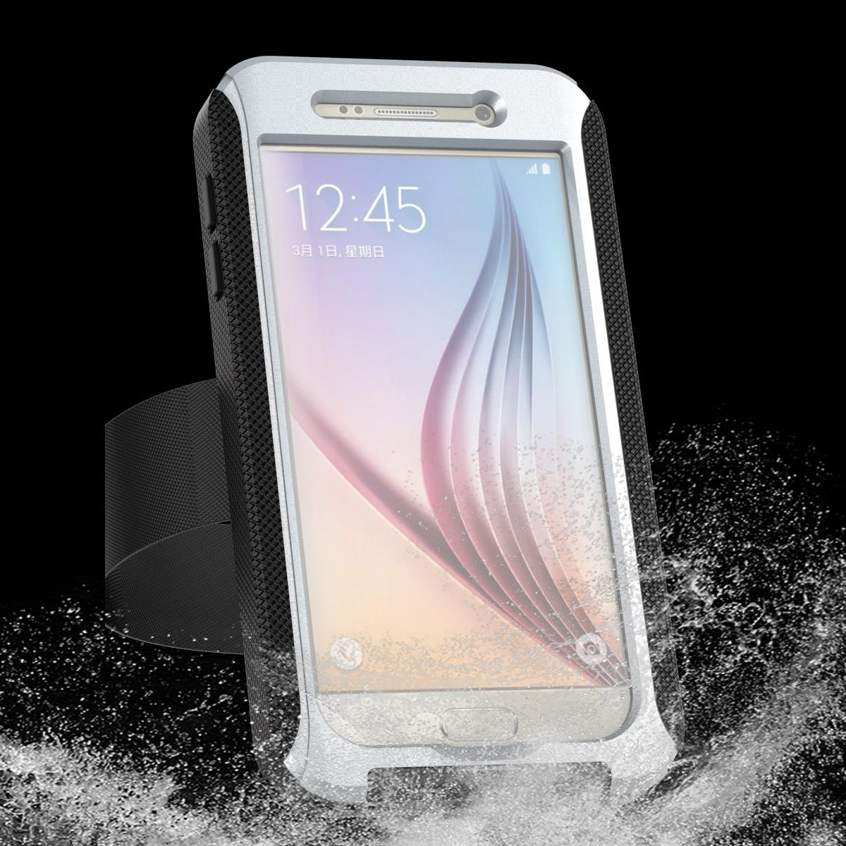 newest b0244 3e650 AD Series IPX68 Waterproof Heavy Duty Protection Case With Arm Band For  Samsung Galaxy S6
