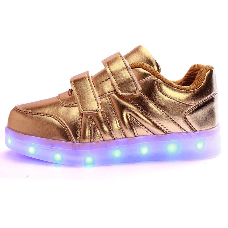3649cc8cb Kids LED Light Shoes Sneakers Leather Casual Boy Girl Shoes Children New
