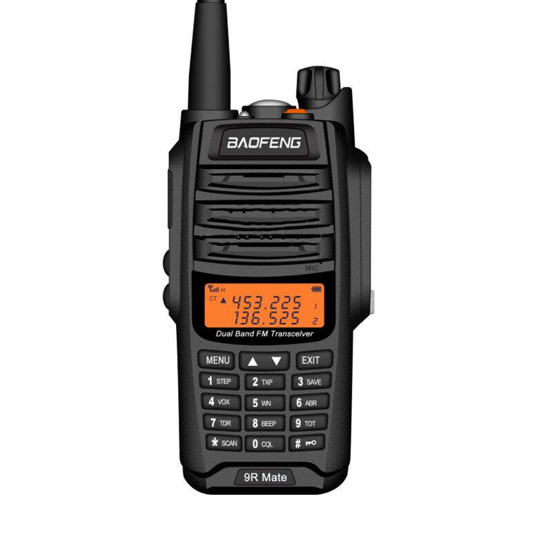 BAOFENG BF-9R Mate 10W 4800mAh IP67 Waterproof UV Dual Band Two-way Radio Handheld Walkie Talkie 128 Channels Sea Land Outdoor Hiking Intercom Driving Civilian Interphone