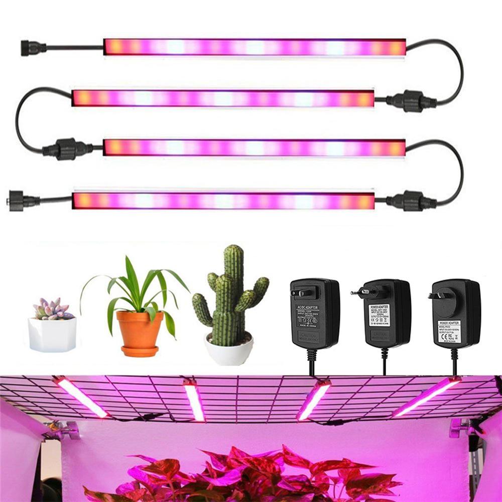 AC100-240V 24W Đỏ: Xanh lam 4: 1 Đèn LED tăng cường dải sáng cứng Đèn trồng cây trong nhà kính