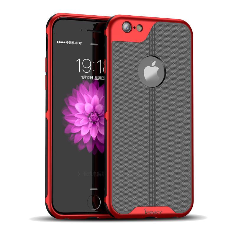 iPaky Plating Anti Fingeravtrykk Beskyttelsesveske Til iPhone 6s Plus/6 Plus Hard Dissipation Hard PC