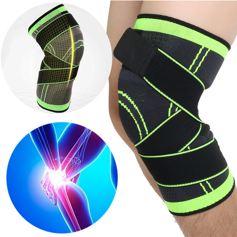 Ipree® 1pcs 3d weaving knee brace breathable sleeve support for running  jogging sports Sale - Banggood.com