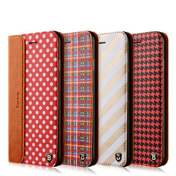 BASEUS Flip PU Leather Stand Holder Card Slots Case Cover cho Apple iPhone 6 6S 6Plus 6S Plus