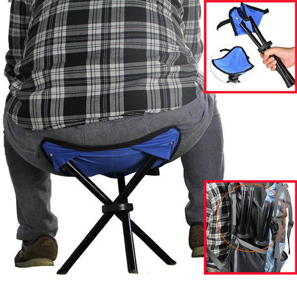 Excellent 22X 22X31Cm Outdoor Hiking Fishing Folding Stool Portable Triangle Chair Maximum Load 100Kg Unemploymentrelief Wooden Chair Designs For Living Room Unemploymentrelieforg