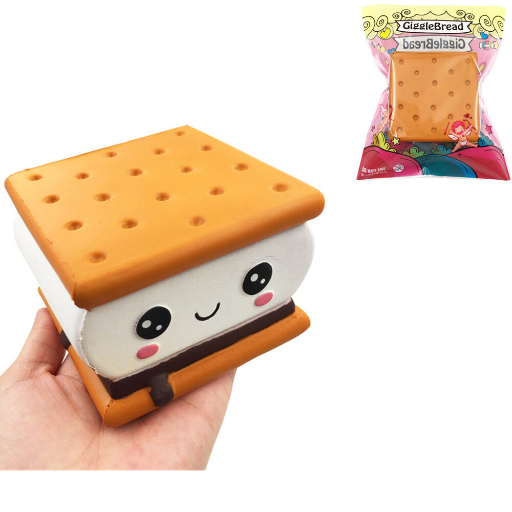 GiggleBread S'more Chocolate Biscuit Squishy 9.5*9*6CM Licensed Slow Rising With Packaging Collection Gift