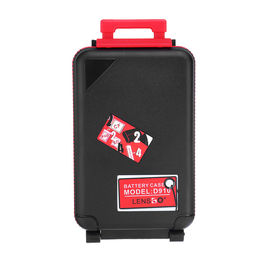 LENSGO D910 Storage Box Case for SD CF XQD Memory Card Camera Battery AA Battery with Battery Indicator