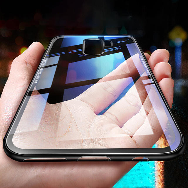 Bakeey Clear Tempered Glass Back Cover TPU Frame Protective Case for Samsung Galaxy Note 9/S9/S9 Plus/Note 8/S8/S8 Plus/S7 Edge