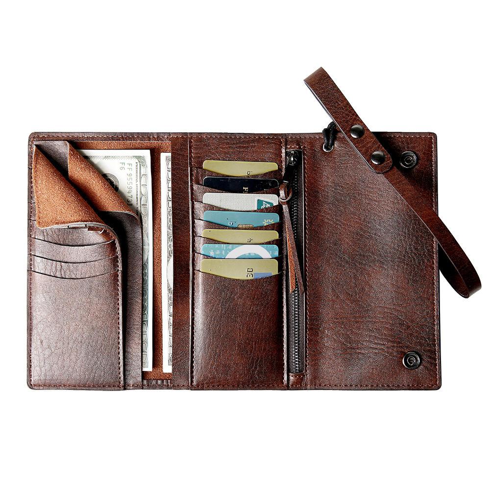 E EkpheroMen Casual Trifold Multi-Slot Long Wallet Card Holder Cash Holder Clutch Bag