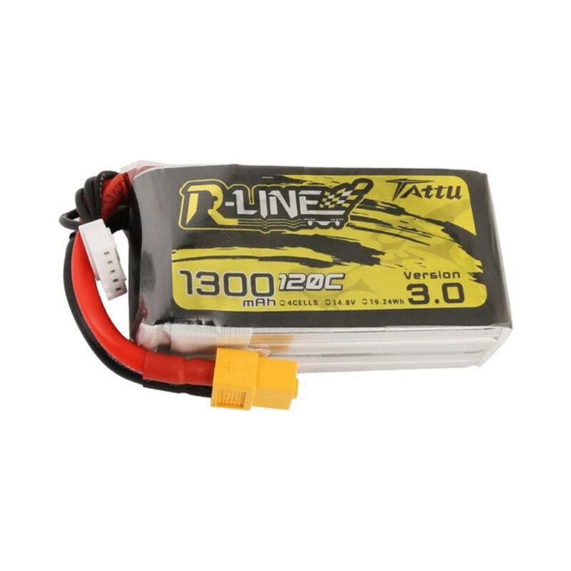 TATTU R-LINE Версия 3.0 14,8 В 1300 мАч 120 C 4S Lipo Батарея XT60 Разъем для FPV RC Дрон