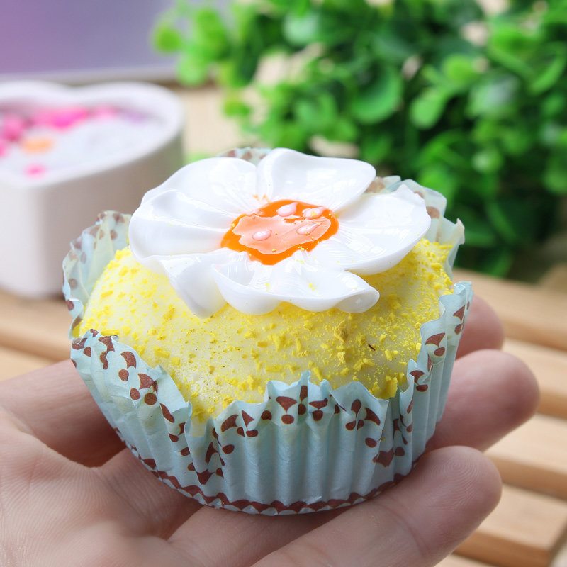 6CM Squishy Soft Cup Cake Scented Simulation Food Bag Phone Straps