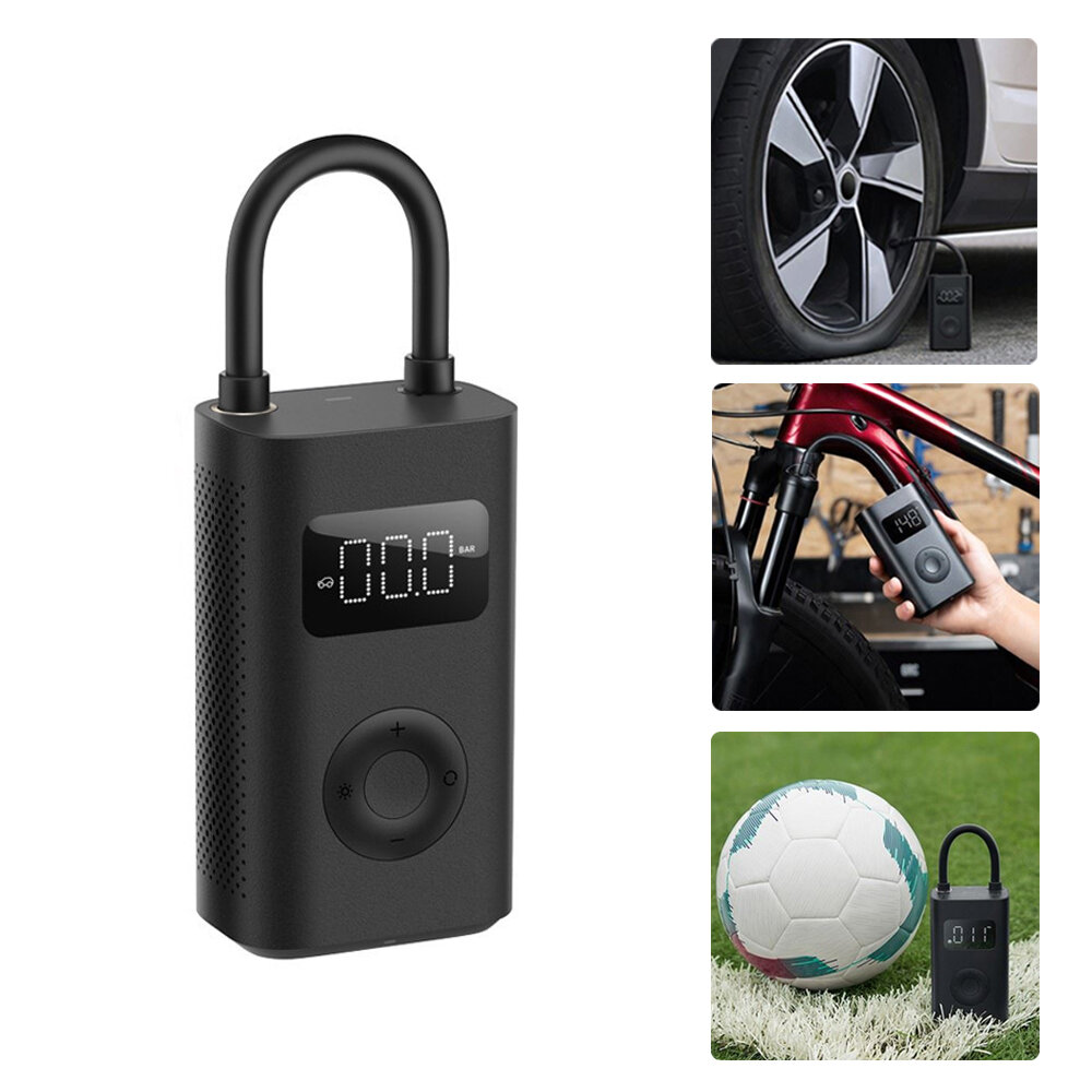 XIAOMI Mijia 1S 150PSI Air Pump Multi-function 4000mAh Type-C 5 Modes Auto Tire Pump with LED Light for Car Bike Motorcycle Ball