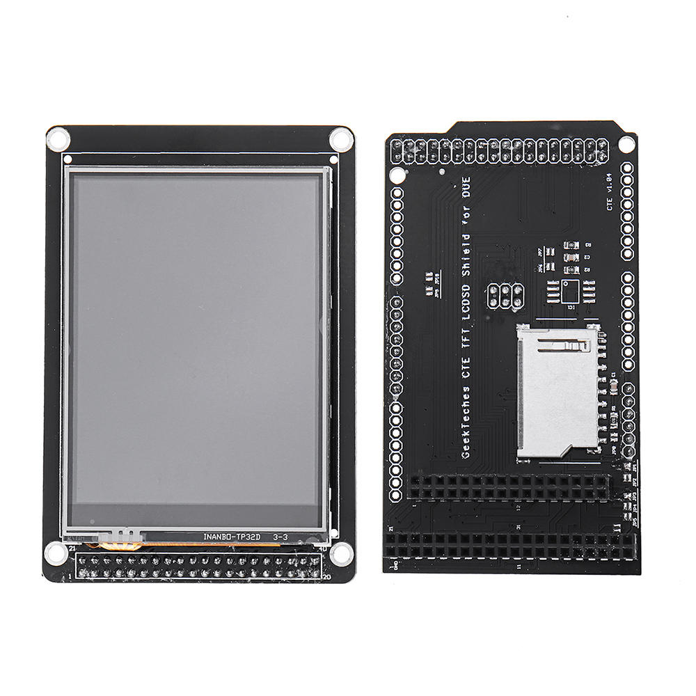 3.2 Inch TFT LCD Display + TFT/SD Shield For MEGA 2560 LCD Module SD level Translation 2.8 3.2 DUE GeekTeches for Arduino - products that work with official Arduino boards