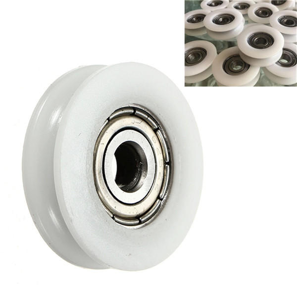 5x24x7mm U Groove Nylon Round Pulley Wheel Roller For 3 8mm Rope Ball  Bearing