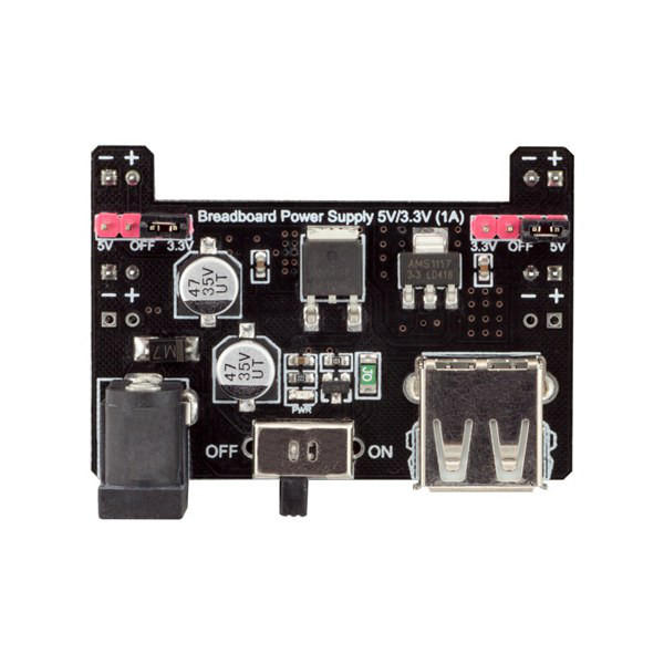 10Pcs Breadboard Power Supply 5V/3.3V 1A Module Board RobotDyn for Arduino - products that work with official Arduino bo