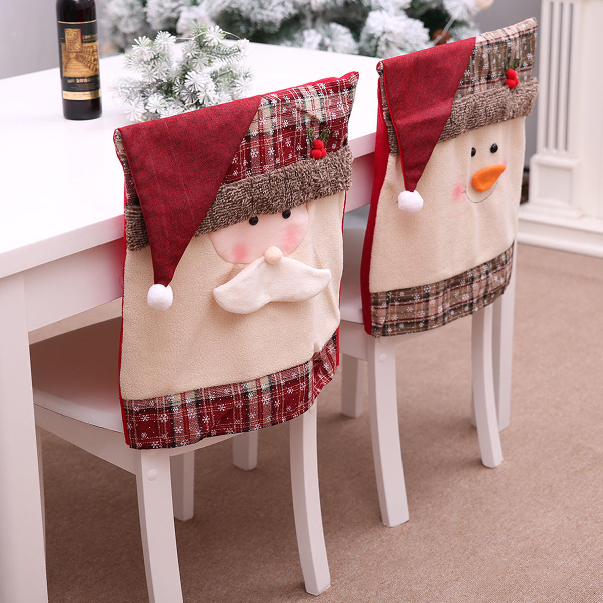 Chair Back Cover For Christmas Kitchen