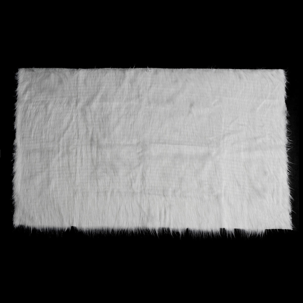 White Shaggy Fur Fabric Long Pile Fur Costumes Photographic Backdrops Prop