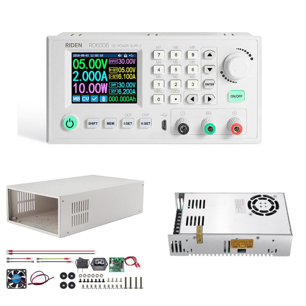 RIDEN® RD6006 RD6006W مجموعة كاملة رقمي مراقبة التبديل قابل للتعديل القوة توريد تيار منتظم مستقر القوة محول باك وحدة مرا