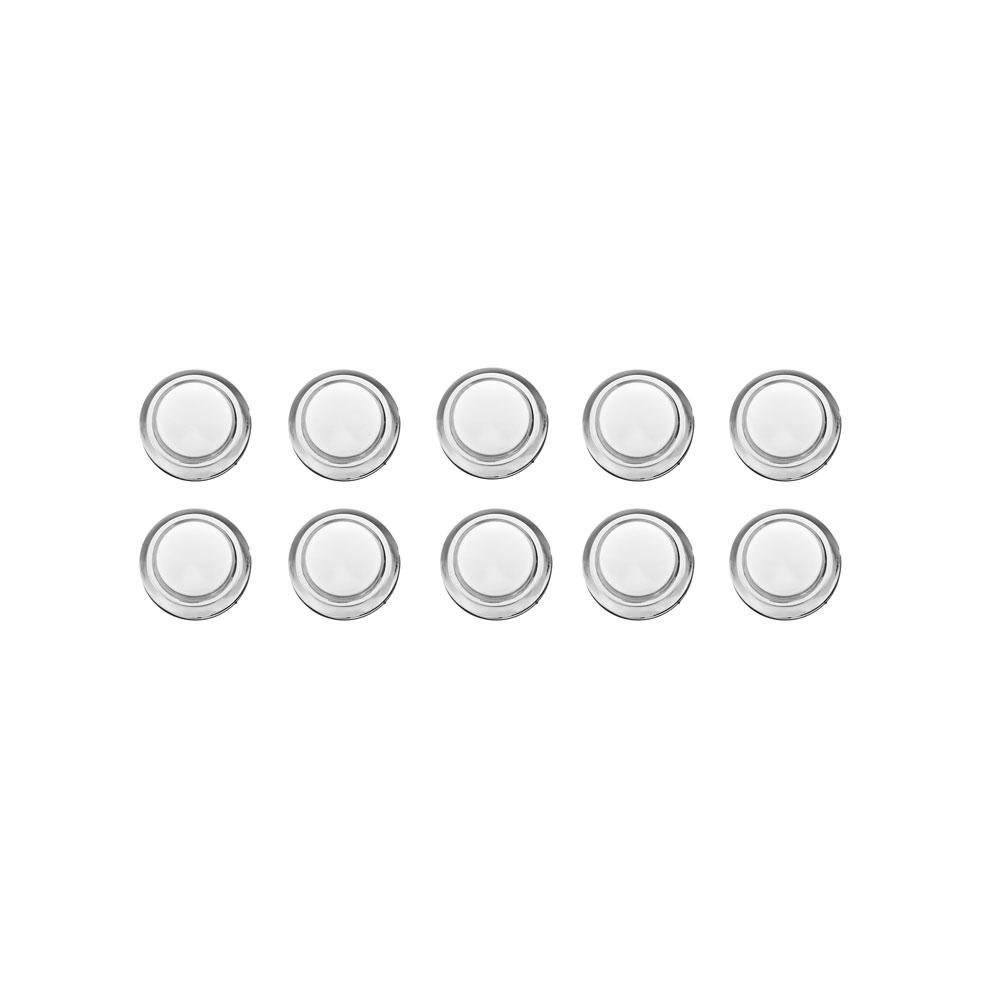 10Pcs 33MM Electroplated White LED Push Button for Arcade Game Console Controller DIY