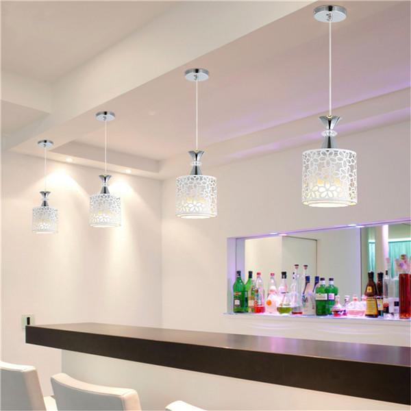 E27 Modern Crystal Iron LED Ceiling Light Fixtures Chandelier Pendant Lamp  for Dining Room Kitchen