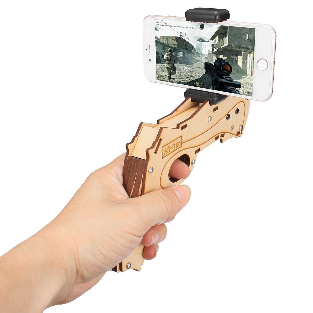 DIY Realidad aumentada AR Toy con teléfono celular Stand Holder Protable Wood AR