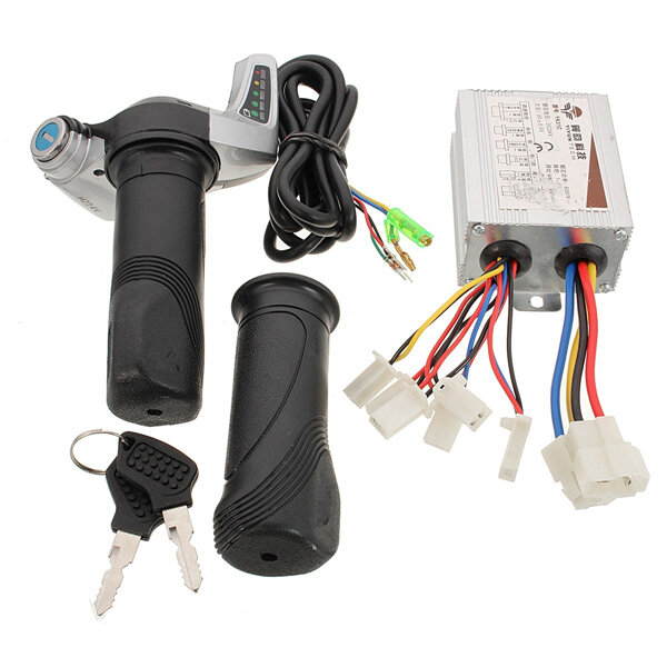 24V 500W Motorcycle Brush Speed Controller & Scooter Throttle Twist Grips