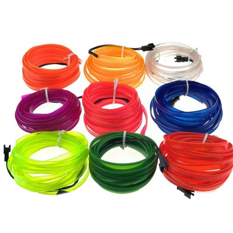 5 M 8 MM Breedte Flexibele Neon Touw Buis LED Strip Licht voor Dance Party Auto Decor met DC12V Driv